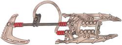 Twin-Bladed Black Fire Sword
