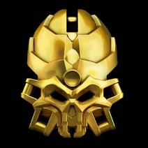 Goldene Maske der Totenkopfspinnen
