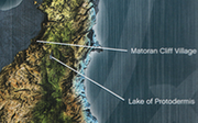 Map Matoran Cliff Village - Lake of Protodermis
