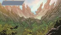 Comic Black Spike Mountains