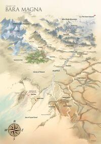 Mapa de Bara Magna con Indicaciones