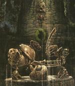Daxia Bohrok and AvMatoran Sculpture