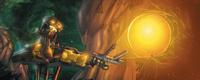 Comic Hewkii dispara una esfera Zamor