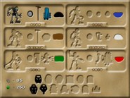 BIONICLE TLMN In-game inventory screen