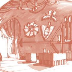 Das Innere einer Hütte