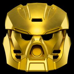 Goldene Maske des Feuers