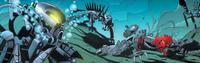 Sarjakuva Hydraxon Spinax vaurioitunut Maxilos