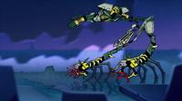 Onua es Arrojado por Escorpiones Animación de Personaje