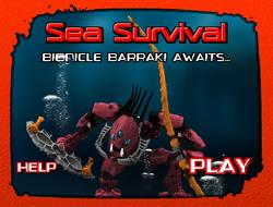 Pantalla de Supervivencia en el Mar