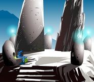 Hahli places the six crystals at the Amaja Circle
