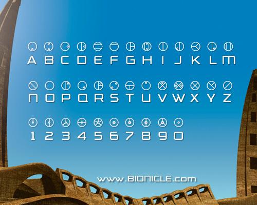 Matoran Alphabet
