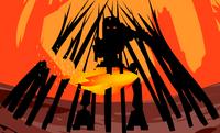 MNOLG Espada de Fuego en Uso