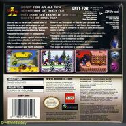 The back of Bionicle Matoran Adventures (US version)