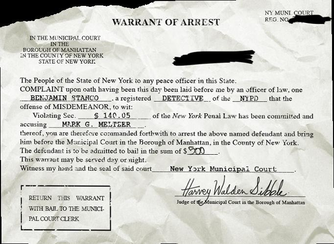 An Arrest Warrant For Mark Meltzer