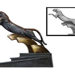 <i>Diseño conceptual de la escultura de una pantera.</i>