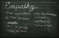 Empathy chalkboard