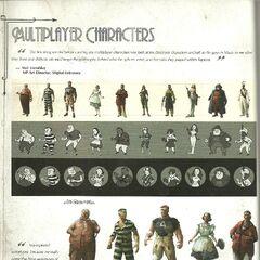 <i>Personajes del multijugador.</i>
