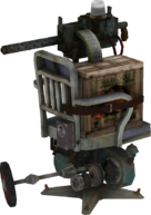 Machine Gun Turret BioShock Model Render 2