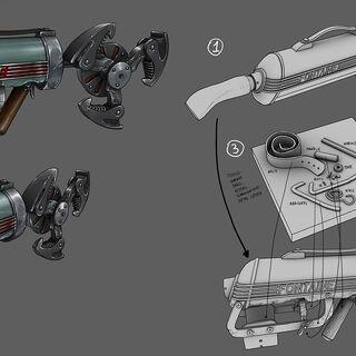 <i>Ilustración conceptual para el garfio neumático.</i>