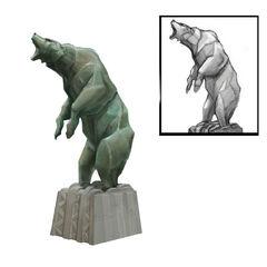 <i>Diseño conceptual de la escultura de un oso.</i>