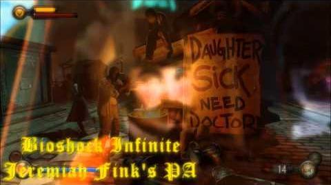 Bioshock Infinite Jeremiah Fink's public announcements