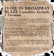 Broadway blaze