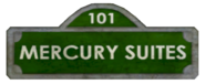 Mercury Suites Street Sign