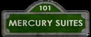 Mercury Suites Street Sign