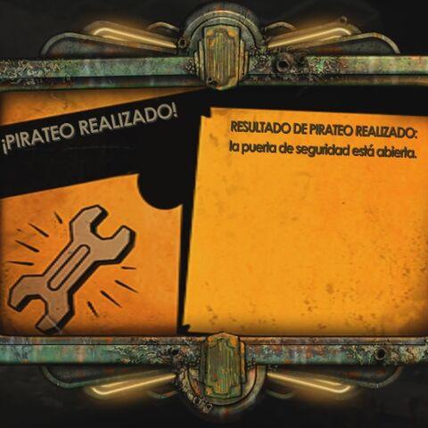 Mensaje de pirateo en <a href=