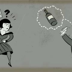 <i>La Baby Jane vista en un anuncio publicitario de <a href=