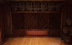 BioI FP The Good Time Club Secluded Bar Wilson Bros. & Company Bottling Works Wine Rack