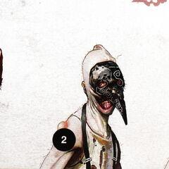 <i>Bocetos de conceptos de diferentes máscaras para que se ajusten a la cara del splicer, con el bosquejo del <a href=