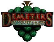 Demeter's Banquet Hall Sign