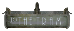 To The Tram sign