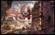 BioShock Infinite Columbia Town Square Concept