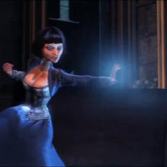 Elizabeth creando una tormenta en la demo de Gamescom de 2010.