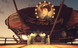 BioShock Infinite - Soldier's Field - First Lady's Aerodrome - The First Lady Airship-entrance f0787