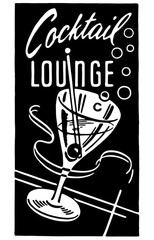 Cocktail Lounge 5 Clip Art Cocktail Lounge Ad