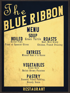Blue Ribbon Menu