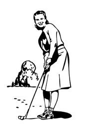 Lady Golfing Clip Art Nico-Time Tee Off For Flavor Ad