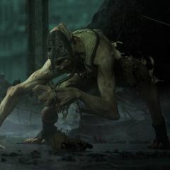 <i>El Crawler, primer enemigo revelado en el trailer de lanzamiento de BioShock 2.</i>