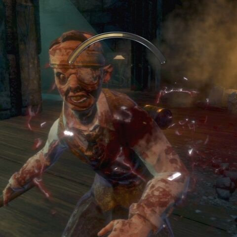 El primer splicer al que te enfrentas en BioShock