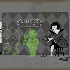 <i>Una caricatura de Baby Jane presente en un anuncio publicitario del plásmido <a href=