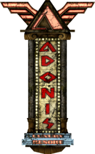 Adonis Luxury Resort main sign