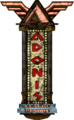 Adonis Luxury Resort main sign.png