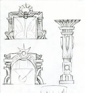 Minerva's Den Doors & Column Concepts 1