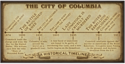 City of Columbia Historical Timeline render