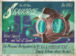 Unused Seahorse Bathysphere Model Poster