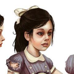 Boceto facial de BioShock 2.