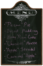 Farmer's Market Menu